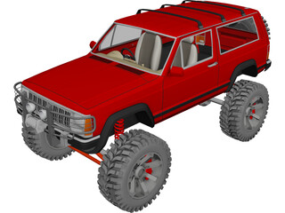 Jeep Cherokee Sport [Lifted] 3D Model