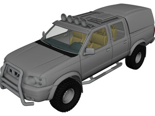 Nissan Navara D22 Double Cab (2002-2005) 3D Model