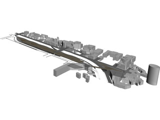 Bridge Building 3D Model
