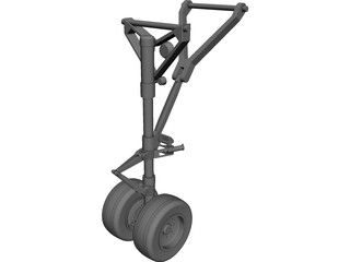 Landing Gear Nose CAD 3D Model
