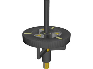 Planetary Gear CAD 3D Model