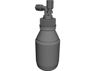 GL45 Media Bottle CAD 3D Model