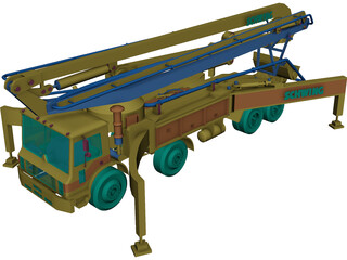 Schwing Truck 3D Model 3D Preview