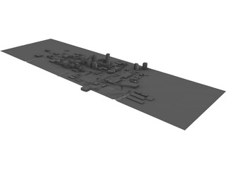 F1 Phoenix Grand Prix Track 1991 Layout 3D Model