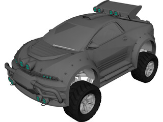Suped up 4x4 Bug 3D Model