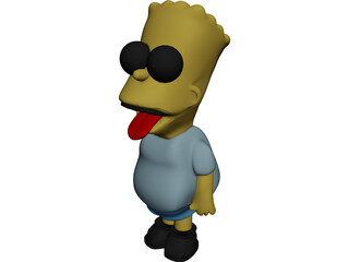 Simpsons Bart 3D Model