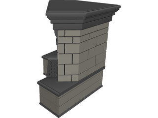 Fireplace Stone 3D Model 3D Preview