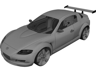 Mazda RX-8 [Tuned] 3D Model 3D Preview