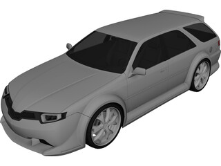 Concept Car QS 3D Model 3D Preview