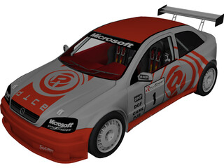 Opel Astra Rally Car 3D Model 3D Preview