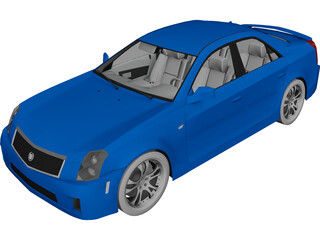 Cadillac CTS 3D Model 3D Preview