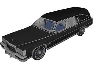Cadillac Hearse 3D Model 3D Preview