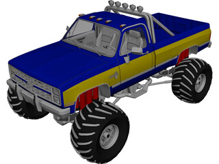 Chevrolet Silverado 4x4 Monster 3D Model