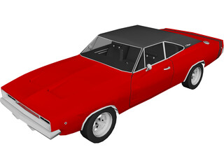 Dodge Charger (1968) 3D Model 3D Preview