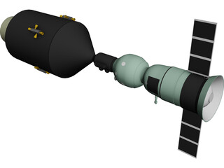 Apollo-Soyuz 3D Model