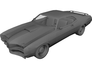 Mercury Cyclon Spoiler (1970) 3D Model