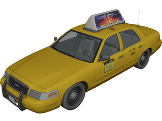 Ford Crown Victoria New York Taxi 3D Model