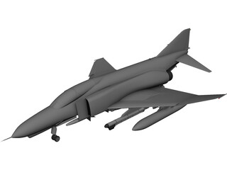 F-4E Phantom CAD 3D Model