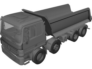 Mercedes-Benz Actros Dumper 3D Model
