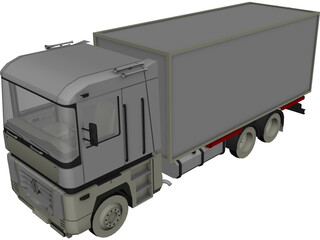 Renault Magnum Box 3D Model