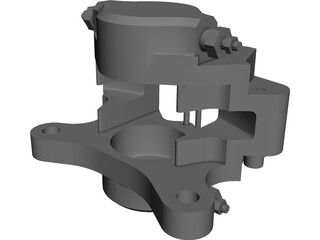 Brake Caliper CAD 3D Model