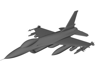F-16 Fighting Falcon CAD 3D Model
