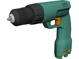 Cordless Drill 3D Model 3D Preview