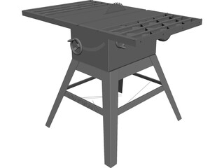 Table Saw Craftsman 3D Model 3D Preview