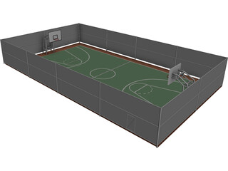 Basketball Area 3D Model