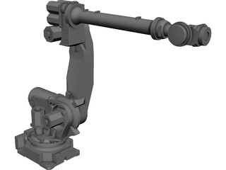 Fanuc R-2000iB125L Robot Arm CAD 3D Model