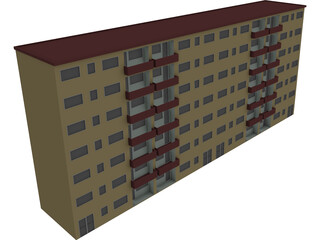 Houseblock Building 3D Model