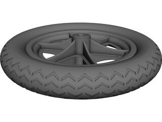 Wheel 12 Inch 3D Model 3D Preview