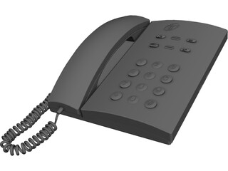 Telephone CAD 3D Model