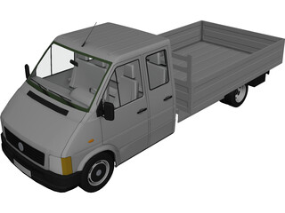 Volkswagen LT Truck Double Cab 3D Model