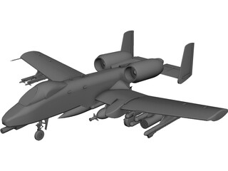 A-10 Warthog 3D Model 3D Preview