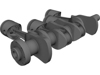 Crankshaft Alfa Romeo CAD 3D Model