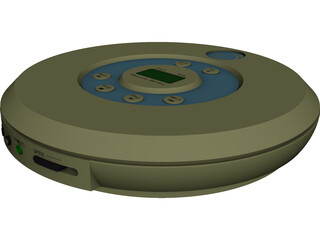 CD Player CAD 3D Model