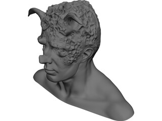 Monster Head 3D Model