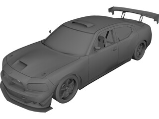 Dodge Charger-SRT-8 Mopar Drift 3D Model
