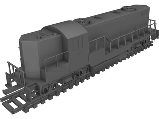 Santa Fe Toy Train CAD 3D Model