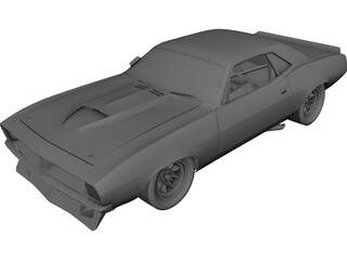 Plymouth AAR Cuda 3D Model