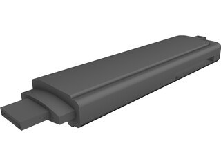 USB Flash Drive CAD 3D Model