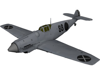 Messerschmitt Bf-109B Bertha 3D Model