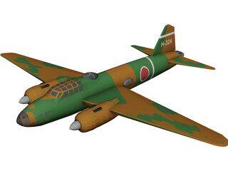 Mitsubishi G4M1 Betty 3D Model