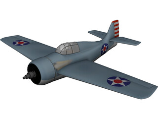 F4F-4 Wildcat 3D Model