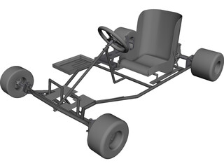 Racing Kart [NURBS] 3D Model