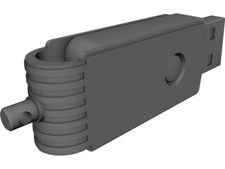 USB Flash Memory Card CAD 3D Model