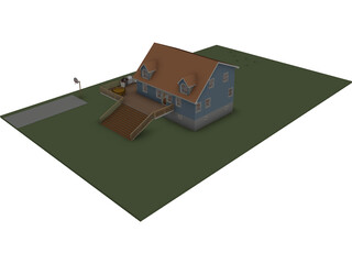 Cape House 3D Model 3D Preview