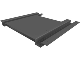 TV Rack CAD 3D Model