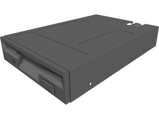 PC Floppy Disk Drive CAD 3D Model